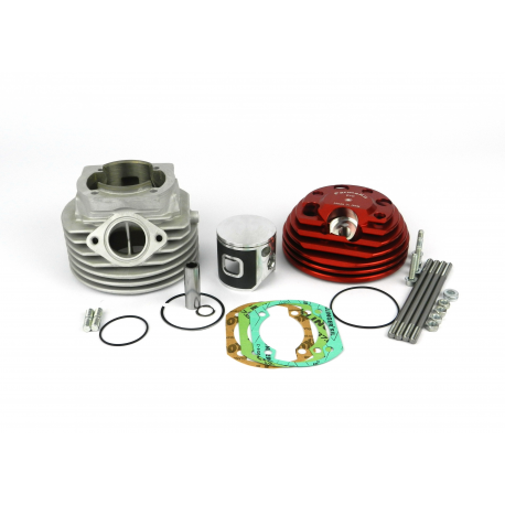 Cylinder kit sp09 evo, head hole side spark plug modular, forged piston, exhaust with bar