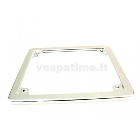 Frame number plate vespa 50 new registration chrome plastic