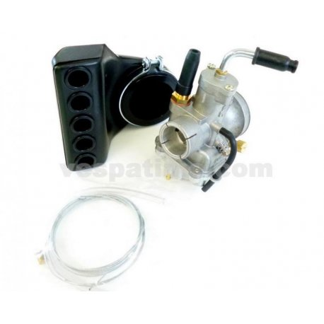Supply system polini 21 for vespa smallframe. use original iron manifold 19