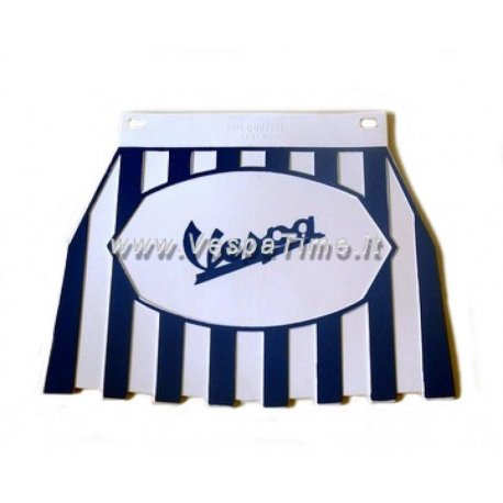 Mud flap with logos vespa white/blue