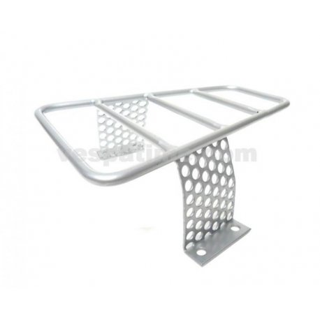 Luggage carrier for floorboard metal grey