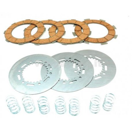 Set clutch dr, 7 discs with 7 springs reinforced vespa px200, rally 180/200, gs 160