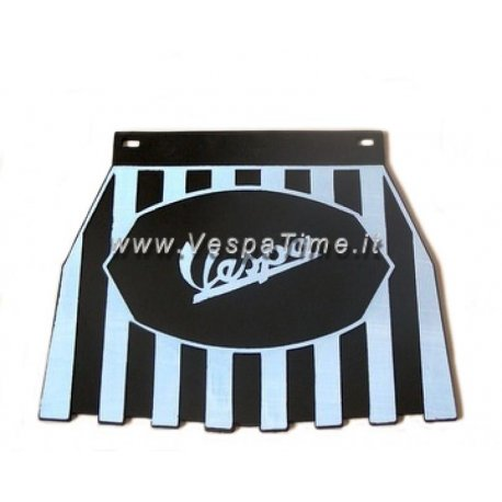 Mud flap with logos vespa black/white