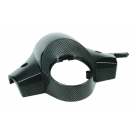 Handlebar cover vespa px disc brake with holes for mirrors. carbon look