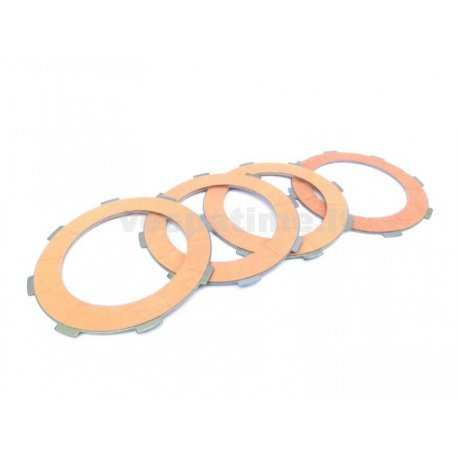 Set clutch newfren, with carbon steel discs for vespa cosa and vespa px from 1998
