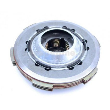 Set clutch newfren, with carbon steel discs, driven plates, and 6 reinforced springs for vespa 50fl/50fl2/hp/125fl
