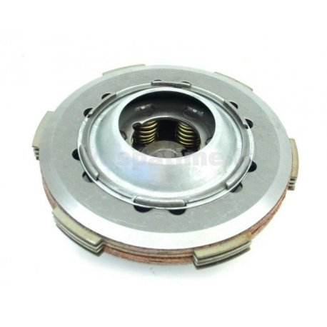 Set clutch newfren, with cork discs, driven plates, and 6 reinforced springs for vespa 50fl/50fl2/hp/125fl