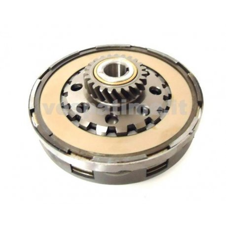 Clutch newfren set for vespa cosa z22 teeth adaptable to px 125-150, sprint, sprint veloce, gt, gtr, with reinforcement ring