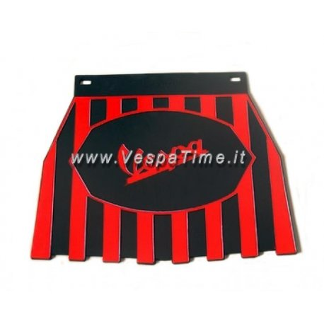 Mud flap with logos vespa black/red
