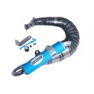 """PARMAKIT """"SNAKE"""" Exhaust for Vespa SMALLFRAME - BLUE SILENCER"""
