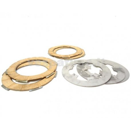 Set of discs clutch drt iron, vespa smallframe with single-spring clutches