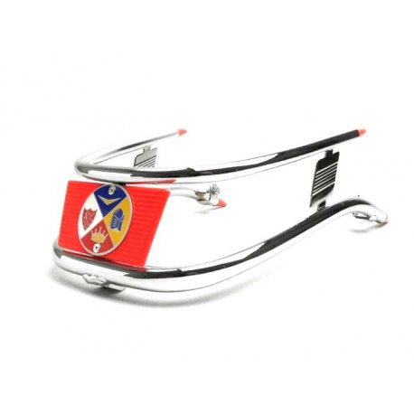 Bumper for chrome-plated/red mudguard Vespa SUPER, GT-GTR-TS, SPRINT, 160GS, 180SS, RALLY