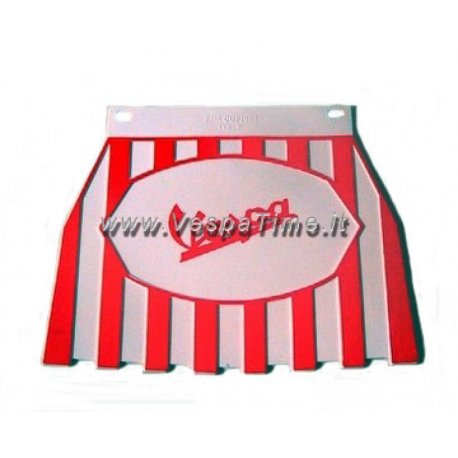Mud flap with logos vespa white/red