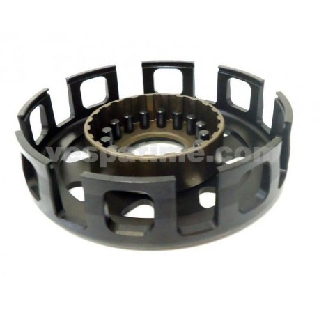 Bell clutch sip race for vespa largeframe 8 springs, machined from solid, nitrided basket with 16 reinforcement rivets