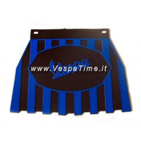 Mud flap with logos vespa black/blue