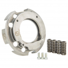 Basket clutch for vespa smallframe from solid with primary driven gear flange, balanced by crimaz