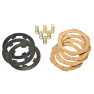 Set clutch newfren, with cork discs, driven plates, and 6 reinforced springs for Vespa 50-125 PK-FL-FL2-HP