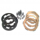 Set clutch newfren, with cork steel discs, driven plates, and 12 reinforced springs for Vespa 50-125 PK-FL-FL2-HP