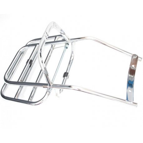 Rear luggage carrier chrome-plated vespa 50, 90, 125 primavera, et3