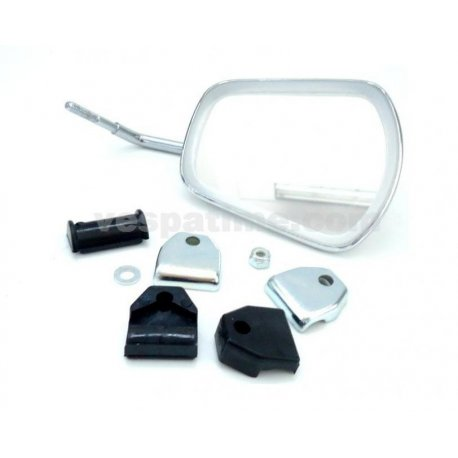 Rh/lh chrome-plated mirror fastening on legshield beading kidney shaped, not type-approved