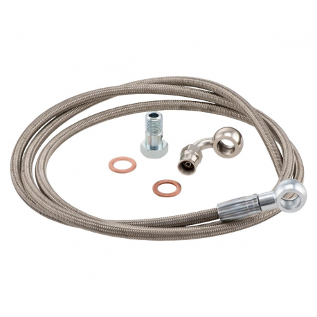 Kit braided hose with fitting for brake caliper