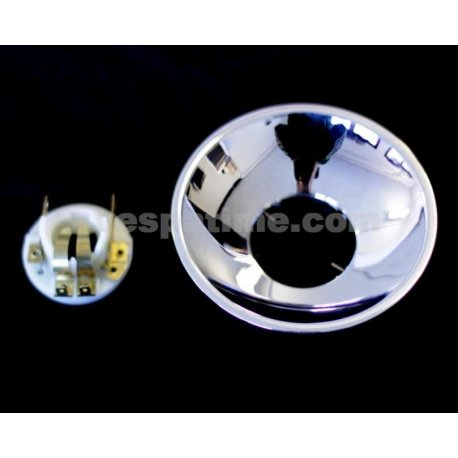 Headlamp reflector without hole parking light ø 105 neck ø 45 with bulbs support
