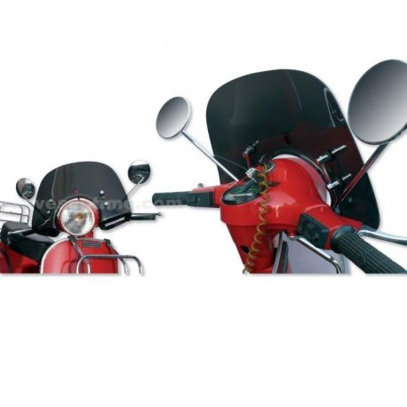 Low windscreen smoky grey for vespa px with fittings