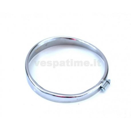 Headlamp chrome ring ø105 vespa 50 l/r/n round headlamp