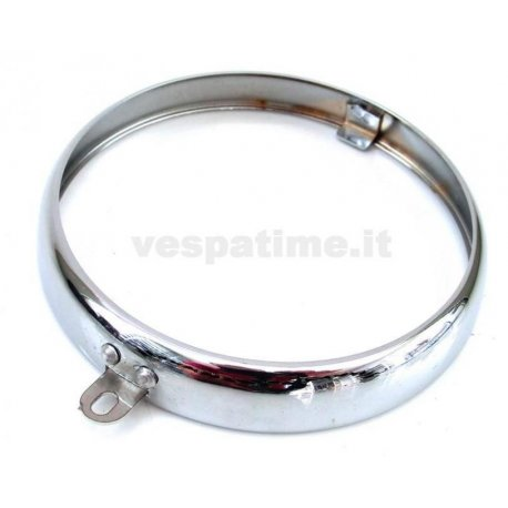 Headlamp chrome ring branded siem ø 95 for vespa 98, 125 v1t→15t, 125 v30t→32t, 125 vu1t utilitaria