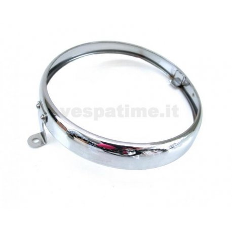 Headlamp chrome ring branded siem ø 105 for vespa 150 vl1t→2t until chassis 48300