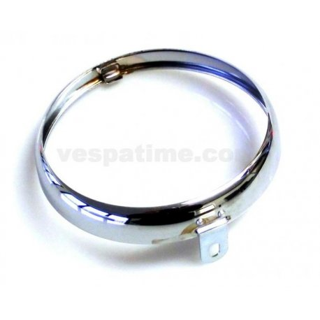 Headlamp chrome ring branded siem ø 105 for vespa 150 vl3t