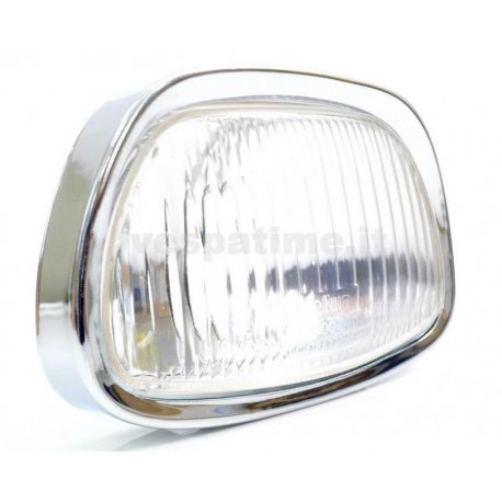 Glass headlamp with ring nut and lamp holder for vespa 125 gt, 150 sprint, 150 gl, 180 ss