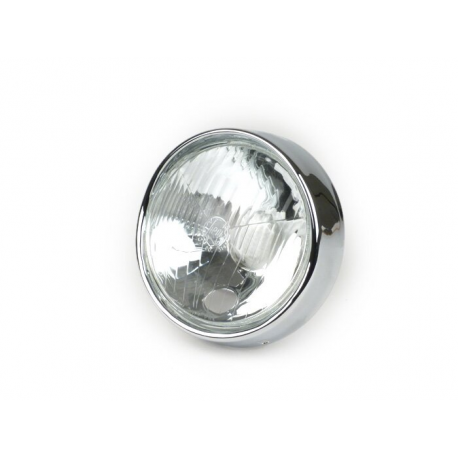 Headlamp siem glass with ring for vespa 150 gs vs4t→5t, 150 vba1t, 150 vbb1t/2t, gs 160, 125 vnb3t→6t