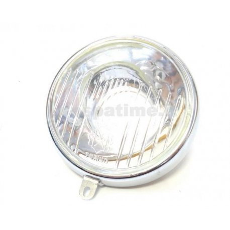 Glass headlamp siem with ring and lamp holder diameter 95 for vespa 98, 125 v1t→15t, 125 v30t→32t, 125 vu1t utilitaria