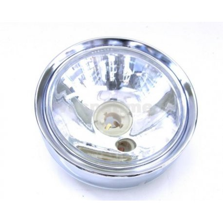 Headlamp vespa 180/200 rally, 125 gtr, 125 ts, 150 sprint veloce with clear glass and chrome ring
