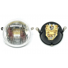 Glass headlamp vespa px/pe, siem original