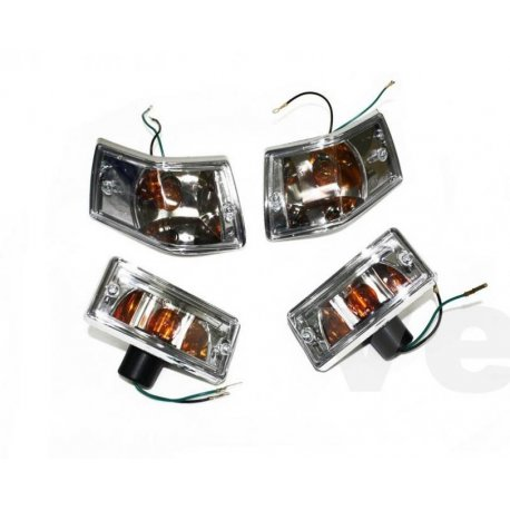 Kit front headlamps and tail lights clear with set orange indicators