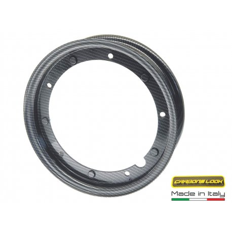 Wheel rim 3.50-10 open all vespas - CARBON LOOK
