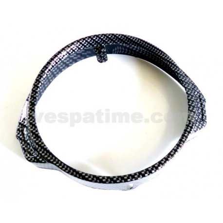 Ring chrome headlamp vespa px/pe - carbon look