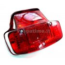 Tail light with gasket, chrome plastic support - Vespa 125 VNB6T, 150GL, 150 Sprint fino al 025478, 180SS fino al 0018000