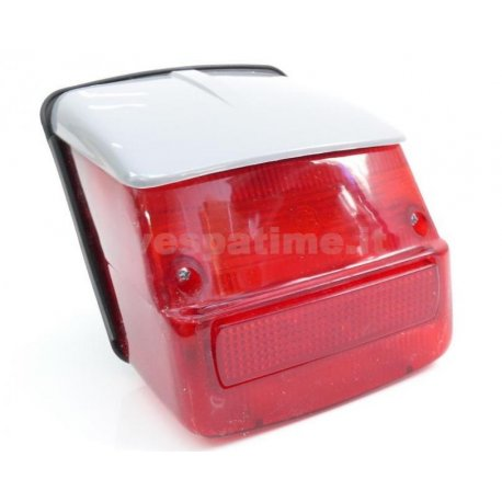 Tail light with gasket and grey cover vespa 125 gtr, 125 ts, 150 sprint 0118590→, 150 sprint vel., 180/200 rally