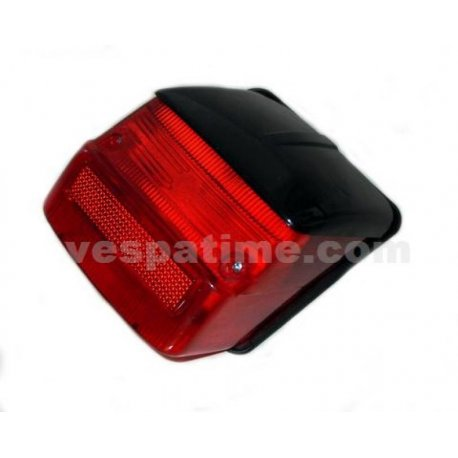 Tail light with gasket and black cover vespa 125 gtr, 125 ts, 150 sprint 0118590→, 150 sprint vel., 180/200 rally