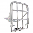 Chrome-plated rear luggage carrier with fastening rods vespa 125,150,160,180,200 from 1958 until 1978
