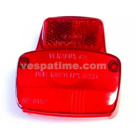 Glass tail light vespa 50ss, 90, 90ss, 125 vma1t→2t →0140161