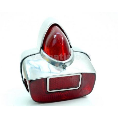 Tail light metal with reflector branded siem and aluminium ring
