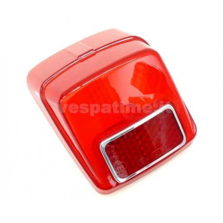 Glass tail light siem original vespa 50 n v5a1t second series of 1965