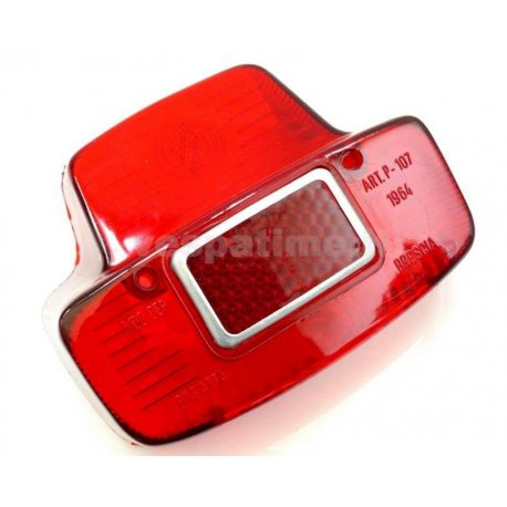 Glass for tail light metal vespa 125 vnb6t, 150 gl, 150 sprint →025478, 180 ss →0018000 with aluminium ring