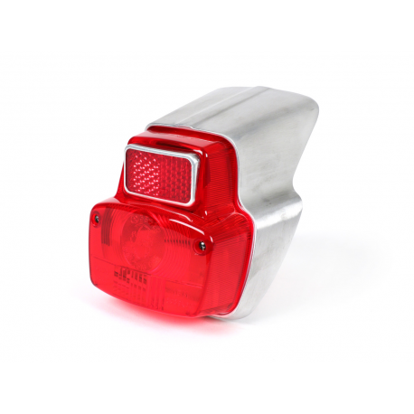 Tail light aluminium, for vespa 50ss,90,90ss, 125 primavera vma1t→2t →0140161