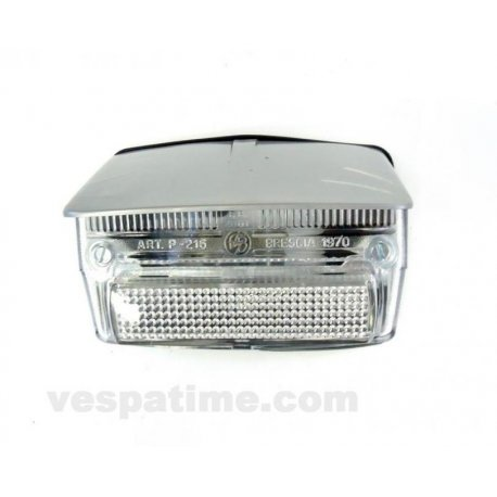 Tail light with gasket and grey cover vespa 50 special v5b1t→3t, 50 elestart. white glass