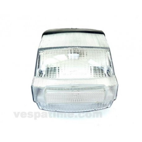 Tail light set for vespa p125x, p150x, p200e, px 125/150/200 e, white glass